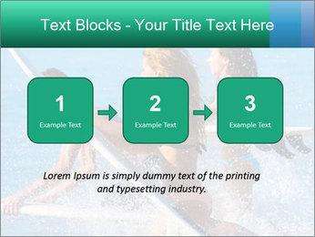 Boys and girls teen surfers running PowerPoint Template - Slide 71
