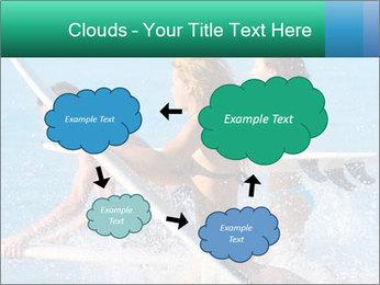 Boys and girls teen surfers running PowerPoint Template - Slide 72