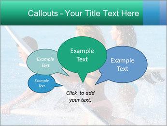 Boys and girls teen surfers running PowerPoint Template - Slide 73