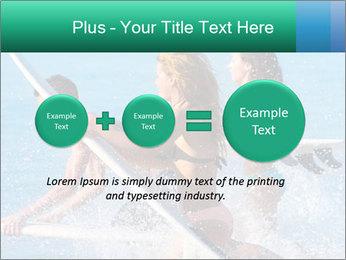 Boys and girls teen surfers running PowerPoint Template - Slide 75