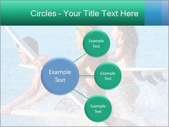 Boys and girls teen surfers running PowerPoint Template - Slide 79
