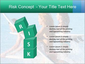 Boys and girls teen surfers running PowerPoint Template - Slide 81