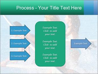 Boys and girls teen surfers running PowerPoint Template - Slide 85