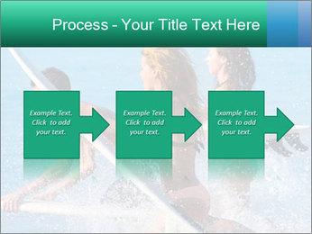 Boys and girls teen surfers running PowerPoint Template - Slide 88