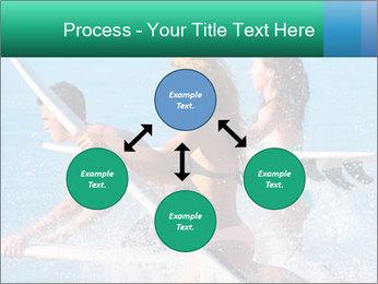 Boys and girls teen surfers running PowerPoint Template - Slide 91
