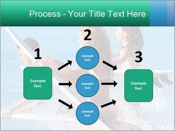Boys and girls teen surfers running PowerPoint Template - Slide 92