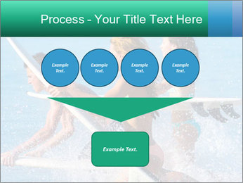 Boys and girls teen surfers running PowerPoint Template - Slide 93