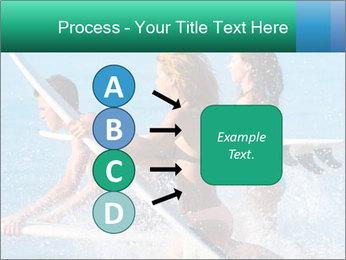 Boys and girls teen surfers running PowerPoint Template - Slide 94