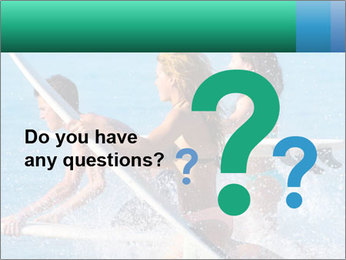Boys and girls teen surfers running PowerPoint Template - Slide 96