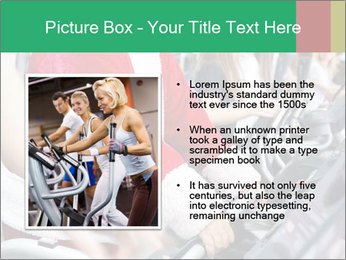Santa Claus in the gym PowerPoint Template - Slide 13