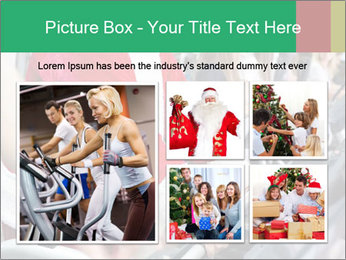 Santa Claus in the gym PowerPoint Template - Slide 19