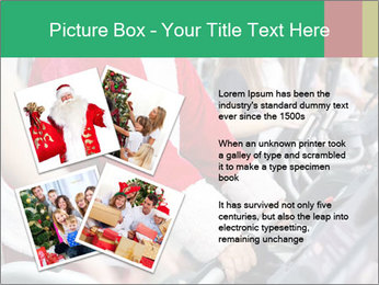 Santa Claus in the gym PowerPoint Template - Slide 23