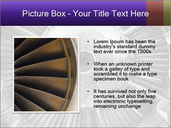 Closeup of a jet engine of an aircraft PowerPoint Template - Slide 13