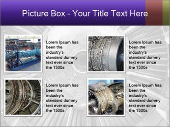 Closeup of a jet engine of an aircraft PowerPoint Template - Slide 14