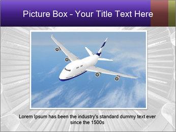 Closeup of a jet engine of an aircraft PowerPoint Template - Slide 15