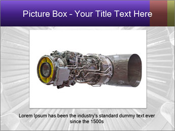 Closeup of a jet engine of an aircraft PowerPoint Template - Slide 16