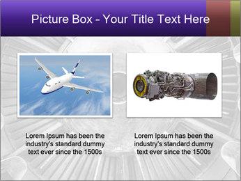 Closeup of a jet engine of an aircraft PowerPoint Template - Slide 18