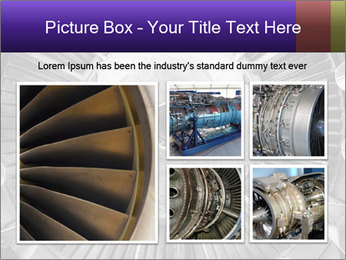 Closeup of a jet engine of an aircraft PowerPoint Template - Slide 19