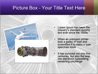 Closeup of a jet engine of an aircraft PowerPoint Template - Slide 20