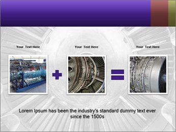 Closeup of a jet engine of an aircraft PowerPoint Template - Slide 22