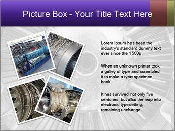Closeup of a jet engine of an aircraft PowerPoint Template - Slide 23