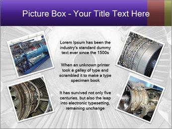 Closeup of a jet engine of an aircraft PowerPoint Template - Slide 24