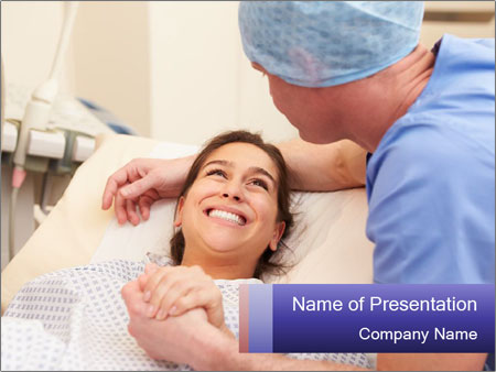 Pregnant on the couch PowerPoint Template