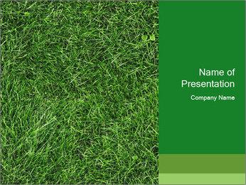 Gree Grass Texture PowerPoint Template - Slide 1