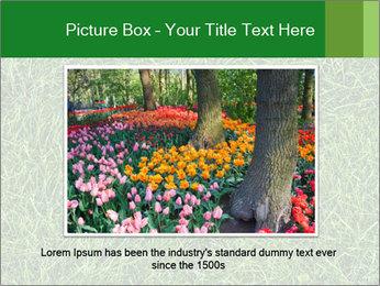 Gree Grass Texture PowerPoint Template - Slide 16