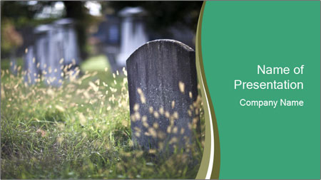 Old Graveyard PowerPoint Template