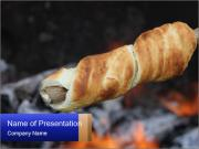 Yummy Grilled Snack PowerPoint Template