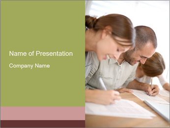 Lesson At Business School PowerPoint Template - Slide 1