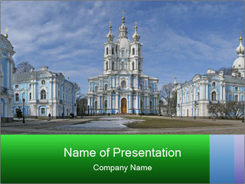 Russian Architecture PowerPoint Template - Slide 1