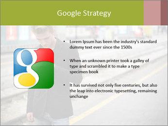 Man Checking Cellphone PowerPoint Template - Slide 10