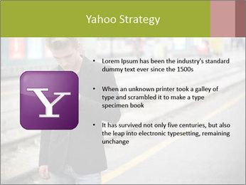 Man Checking Cellphone PowerPoint Template - Slide 11