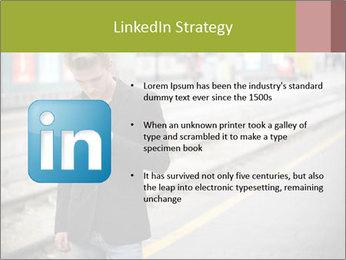 Man Checking Cellphone PowerPoint Template - Slide 12