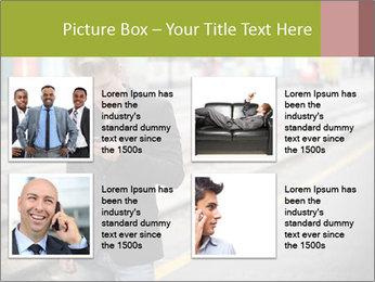 Man Checking Cellphone PowerPoint Template - Slide 14