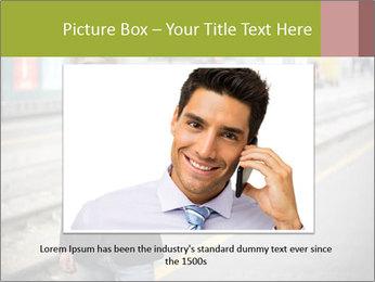 Man Checking Cellphone PowerPoint Template - Slide 16