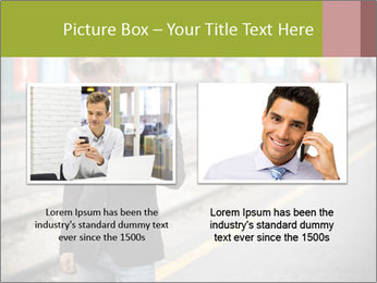 Man Checking Cellphone PowerPoint Template - Slide 18