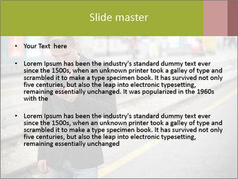 Man Checking Cellphone PowerPoint Template - Slide 2