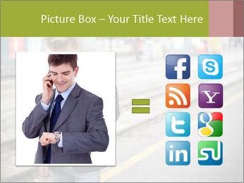 Man Checking Cellphone PowerPoint Template - Slide 21