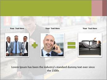 Man Checking Cellphone PowerPoint Template - Slide 22