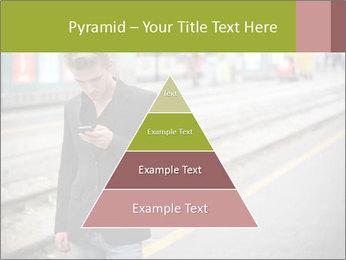 Man Checking Cellphone PowerPoint Template - Slide 30