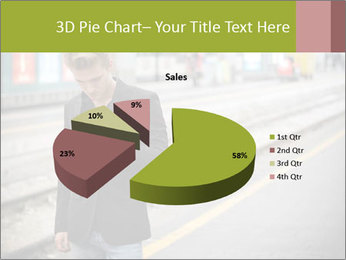 Man Checking Cellphone PowerPoint Template - Slide 35