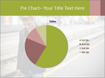 Man Checking Cellphone PowerPoint Template - Slide 36