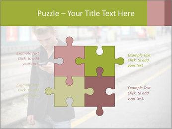 Man Checking Cellphone PowerPoint Template - Slide 43