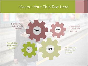 Man Checking Cellphone PowerPoint Template - Slide 47