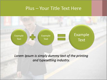 Man Checking Cellphone PowerPoint Template - Slide 75