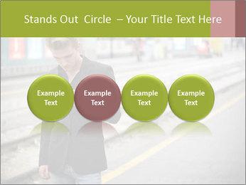 Man Checking Cellphone PowerPoint Template - Slide 76