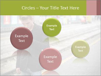 Man Checking Cellphone PowerPoint Template - Slide 77